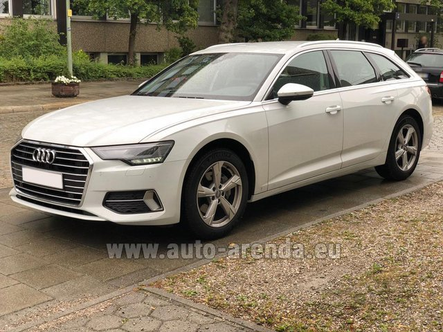 Hire and delivery to Bogenhausen the car Audi A6 40 TDI Quattro Estate