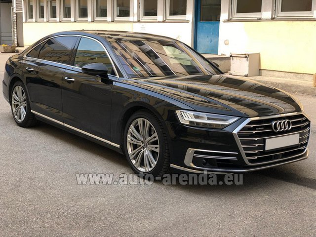 Hire and delivery to Bogenhausen the car Audi A8 Long 50 TDI Quattro
