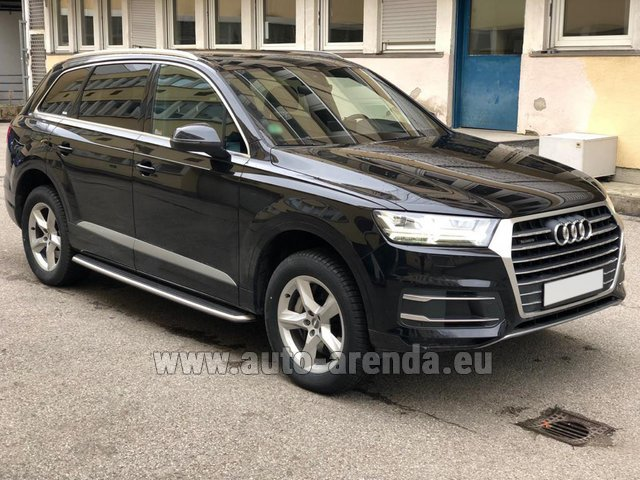 Hire and delivery to Schwanthalerhöhe the car Audi Q7 50 TDI Quattro 5-7 seats