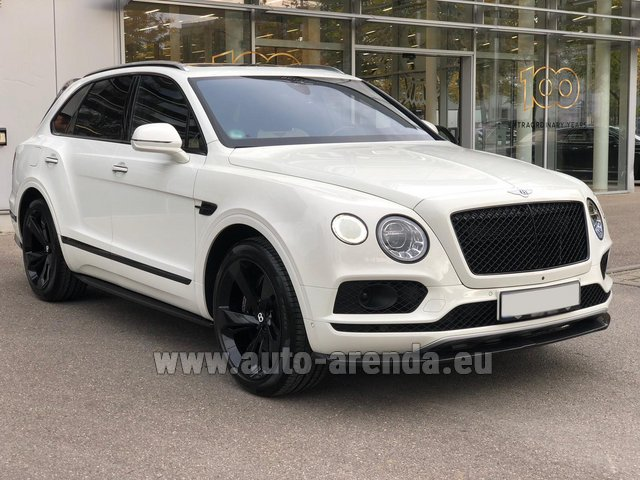 Rental Bentley Bentayga 6.0 litre twin turbo TSI W12 in München Bayern