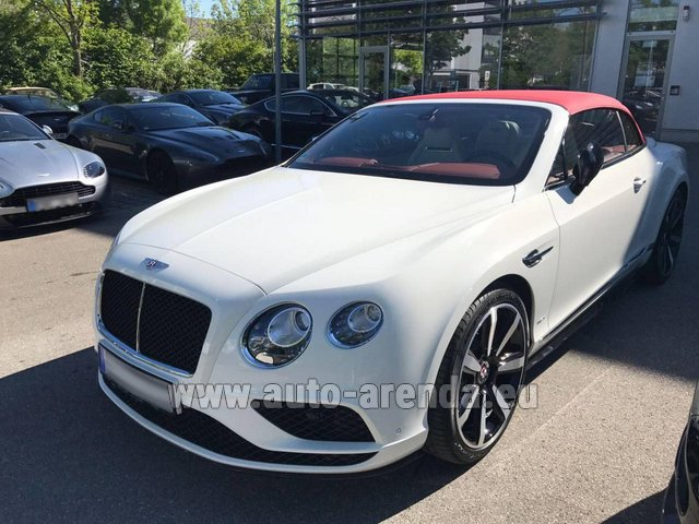 Rental Bentley Continental GTC V8 S in München Bayern