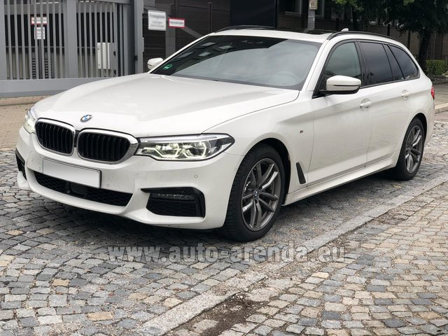 Hire and delivery to the München airport the car BMW 520d xDrive Touring M equipment