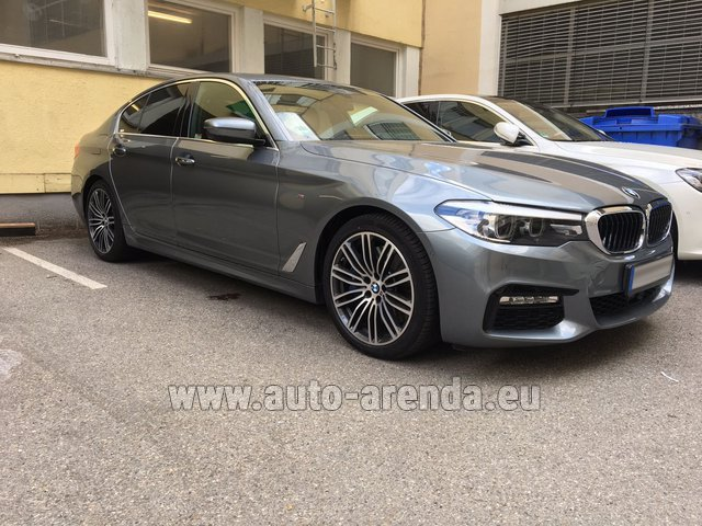 Hire and delivery to the München airport the car BMW 540i M