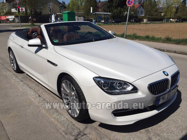 Hire and delivery to the München airport the car BMW 640 Cabrio Equipment M-Sportpaket