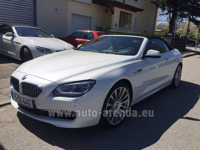 Hire and delivery to the München airport the car BMW 640d Cabrio Equipment M-Sportpaket