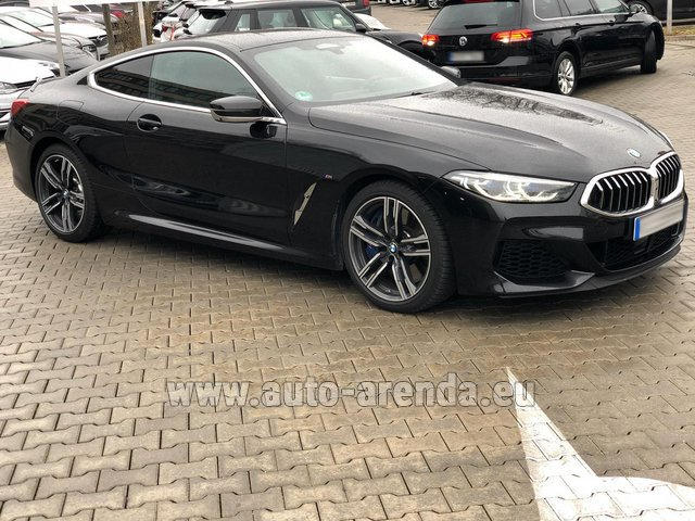 Hire and delivery to the München airport the car BMW M850i xDrive Coupe
