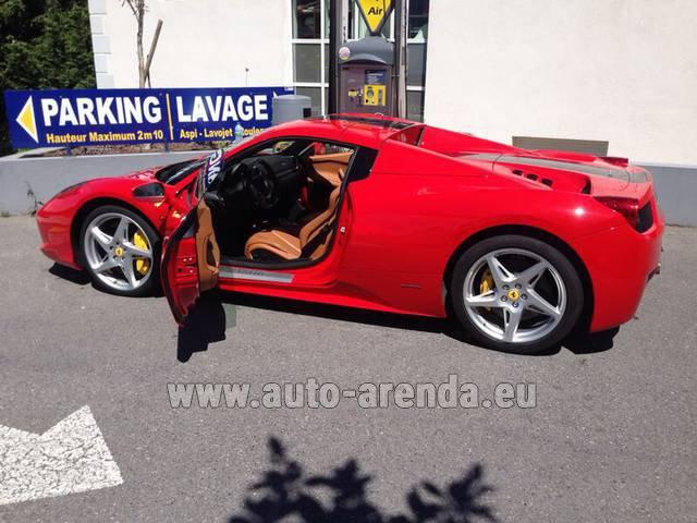 Rent Ferrari 458 Italia Spider Cabrio In The München Airport Auto Arenda