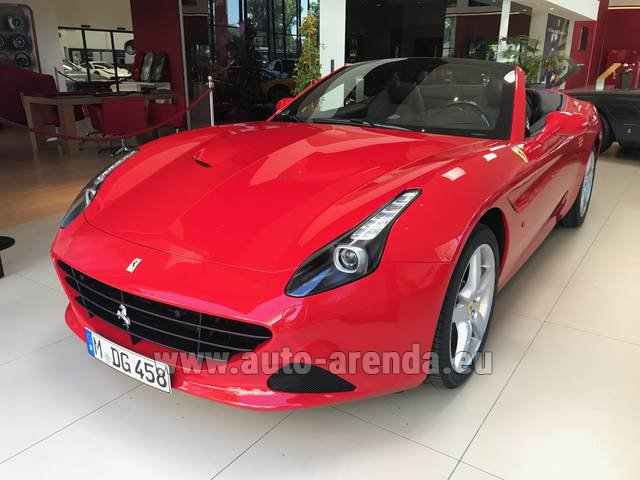 Rental Ferrari California T Convertible Red in München Bayern