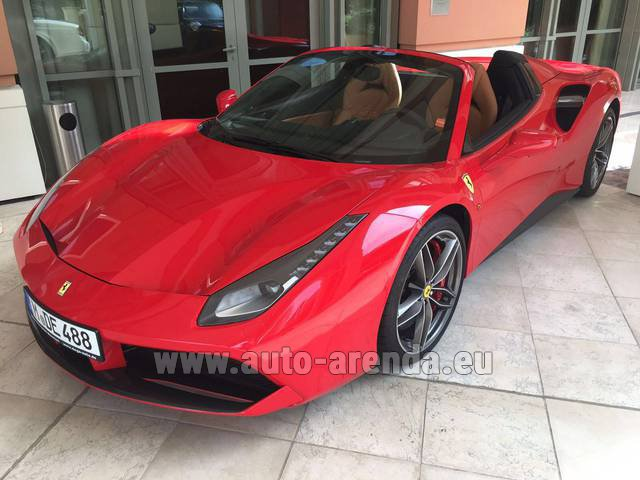 Hire and delivery to Starnberg the car Ferrari 488 GTB Spider Cabrio