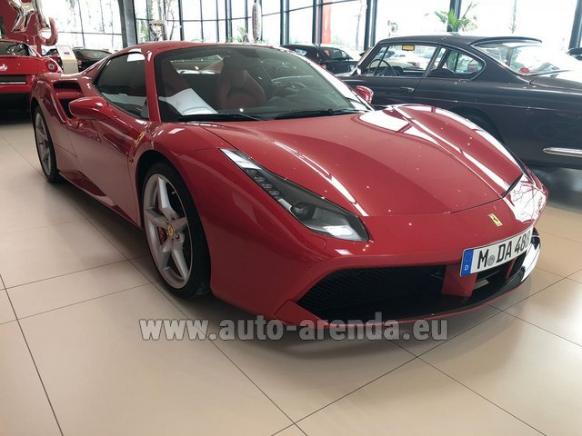 Hire and delivery to Starnberg the car Ferrari 488 Spider