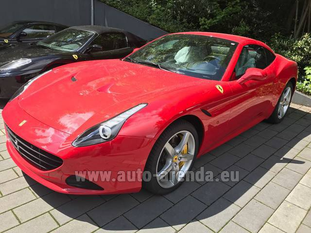 Rental Ferrari California T Cabrio (Red) in München Bayern