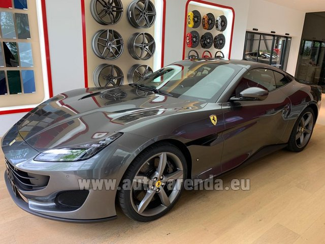 Hire and delivery to Starnberg the car Ferrari Portofino