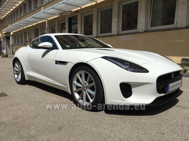 Hire and delivery to Ludwigsvorstadt-Isarvorstadt the car Jaguar F-Type 3.0 Coupe