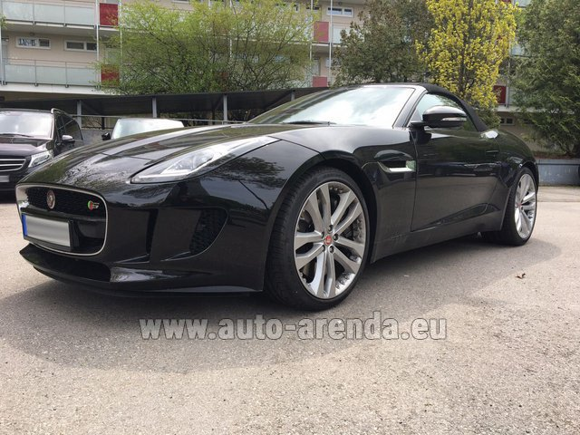 Hire and delivery to Ludwigsvorstadt-Isarvorstadt the car Jaguar F Type 3.0L