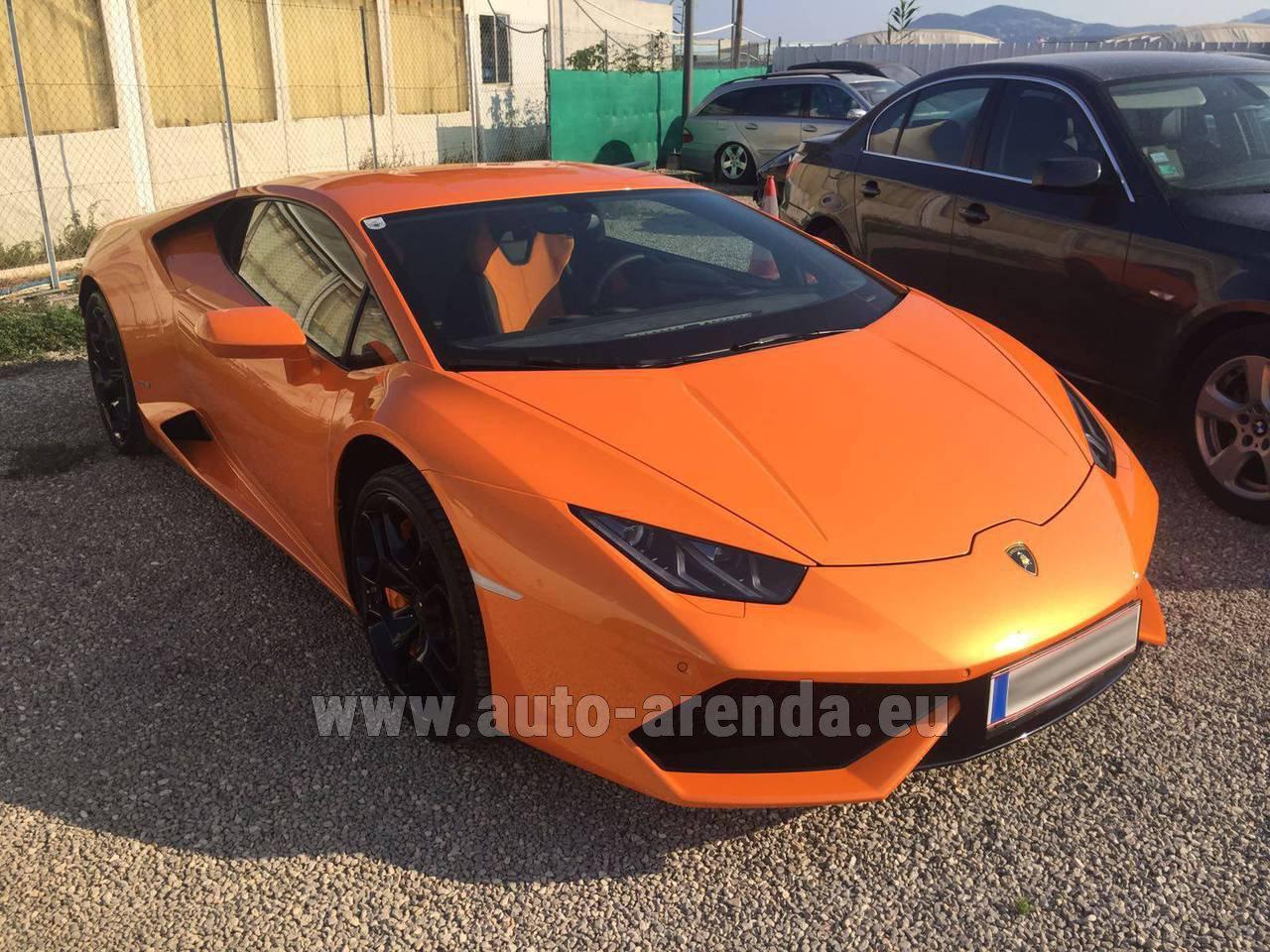 M 252 Nchen Bayern Lamborghini Huracan Lp 610 4 Orange Rental