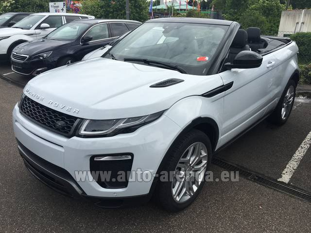 Hire and delivery to Tegernsee the car Land Rover Range Rover Evoque HSE Cabrio SD4 Aut. Dynamic