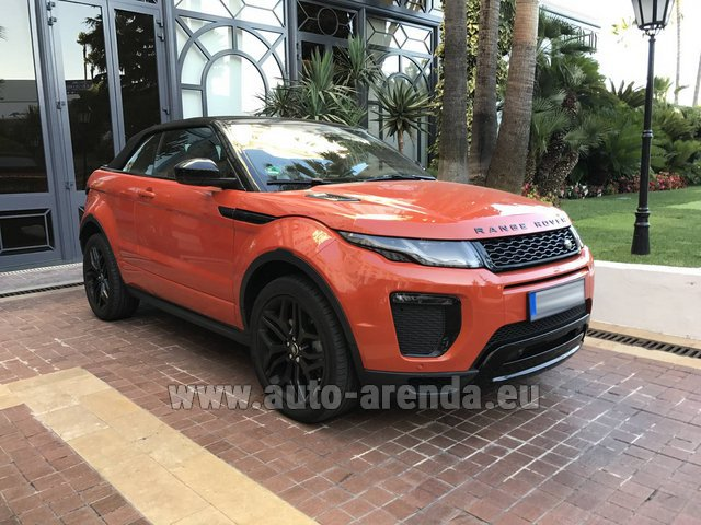 Hire and delivery to Tegernsee the car Land Rover Range Rover Evoque HSE Cabrio SD4