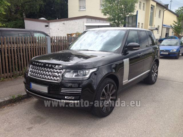 Hire and delivery to Tegernsee the car Land Rover Range Rover SDV8 Autobiography