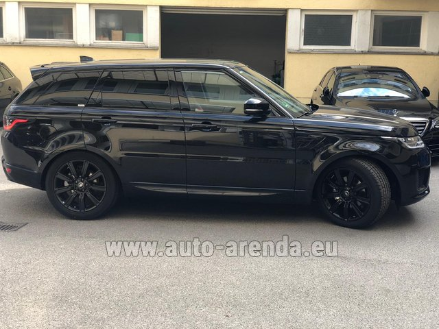 Hire and delivery to Tegernsee the car Land Rover Range Rover Sport