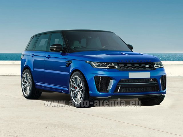 Hire and delivery to Tegernsee the car Land Rover Range Rover Sport SVR V8