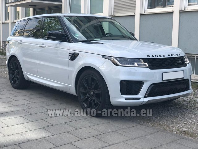 Hire and delivery to Tegernsee the car Land Rover Range Rover Sport White