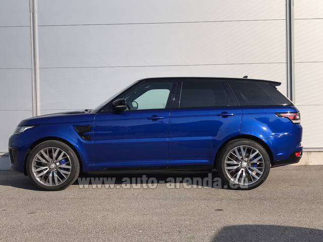 Hire and delivery to Tegernsee the car Land Rover Range Sport SVR V8