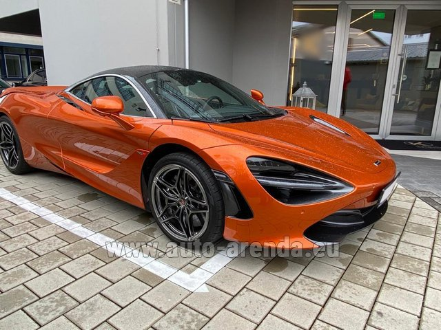Hire and delivery to the München Train Station the car McLaren 720S