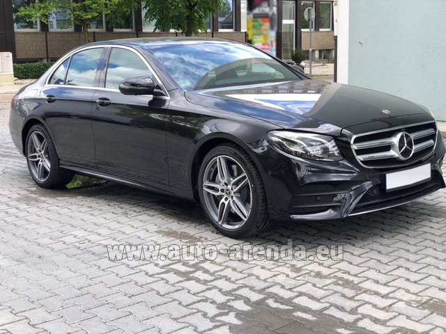 Rental Mercedes-Benz E 450 4MATIC saloon AMG equipment in München Bayern