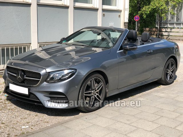 Rental Mercedes-Benz E 450 Cabriolet AMG equipment in München Bayern