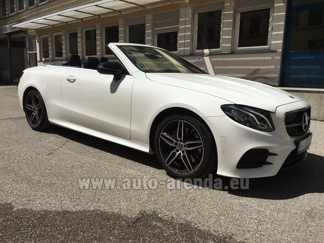 Hire and delivery to Starnberg the car Mercedes-Benz E-Class E 200 Cabrio equipment AMG