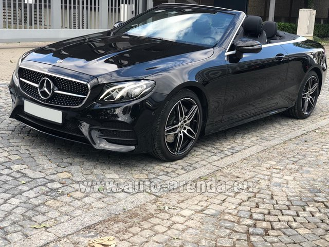 Hire and delivery to Starnberg the car Mercedes-Benz E-Class E220d Cabriolet AMG equipment