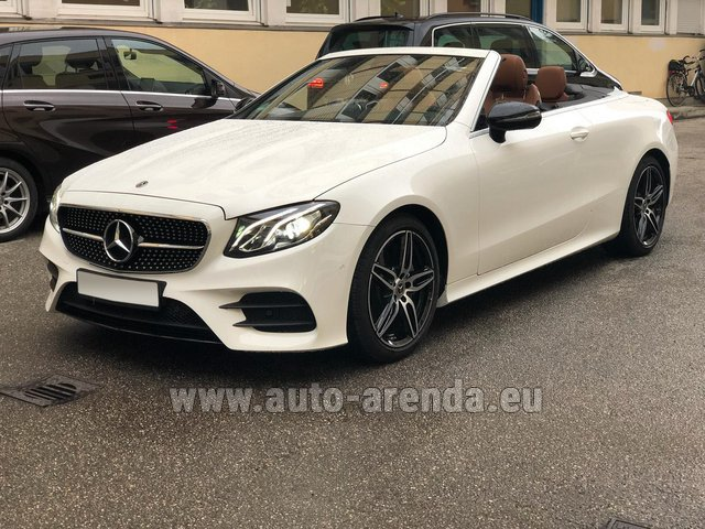 Hire and delivery to Starnberg the car Mercedes-Benz E-Class E300d Cabriolet diesel AMG equipment