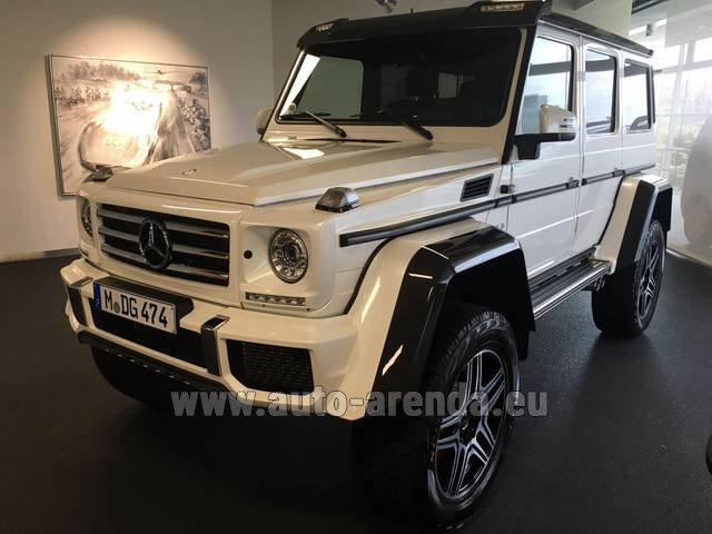 Hire and delivery to Schwanthalerhöhe the car Mercedes-Benz G 500 4x4 White