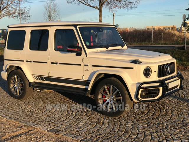 Hire and delivery to Schwanthalerhöhe the car Mercedes-Benz G 63 AMG White