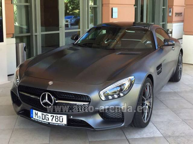 Hire and delivery to Starnberg the car Mercedes-Benz GT-S AMG