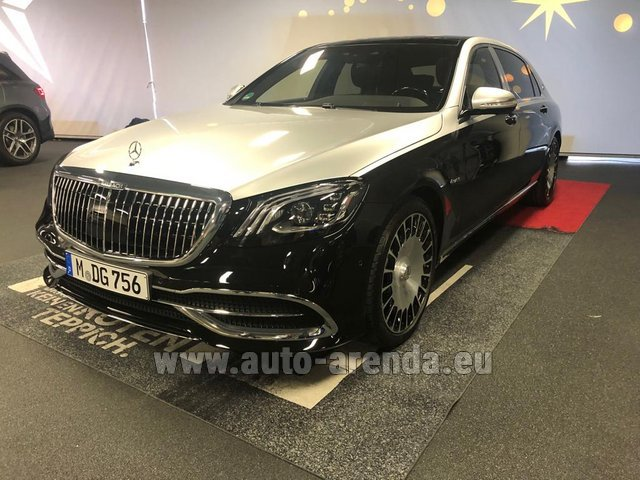 Rental Maybach S 560 4MATIC AMG equipment Metallic and Black in München Bayern