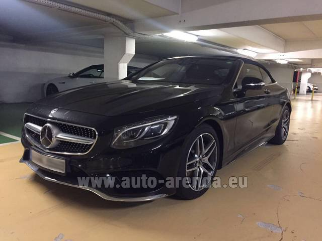 Hire and delivery to Starnberg the car Mercedes-Benz S 500 Cabrio Black