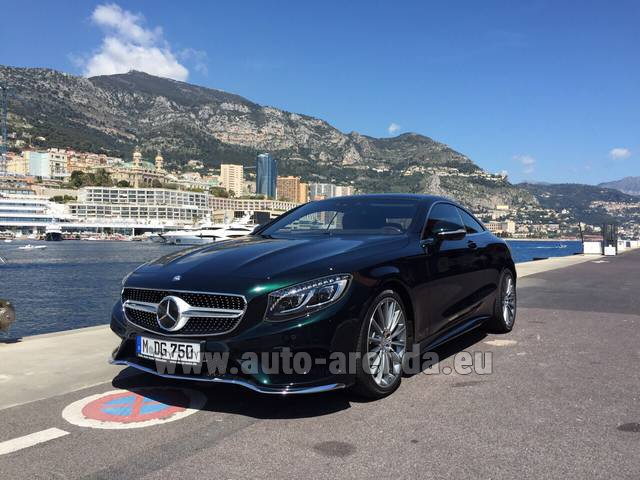 Hire and delivery to Starnberg the car Mercedes-Benz S 500 Coupe 4Matic 7G-TRONIC AMG