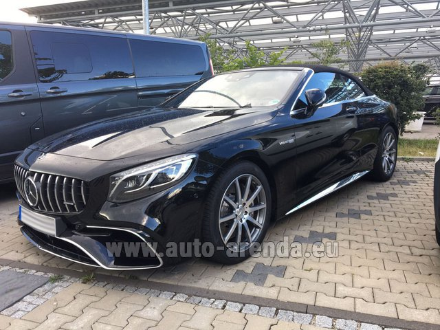 bad wiessee mercedes benz s 63 amg cabriolet v8 biturbo 4matic rental auto arenda. Black Bedroom Furniture Sets. Home Design Ideas