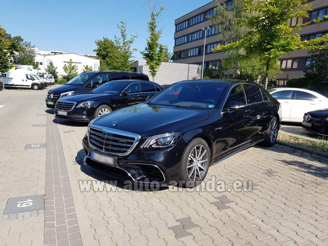 Hire and delivery to the München airport the car Mercedes-Benz S 63 AMG Long