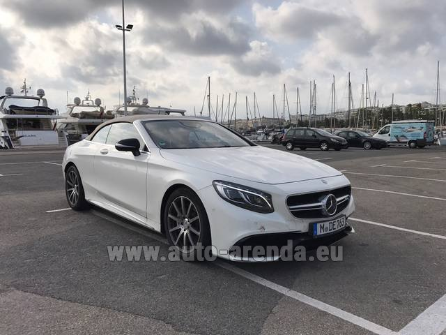 Hire and delivery to Starnberg the car Mercedes-Benz S 63 Cabrio AMG