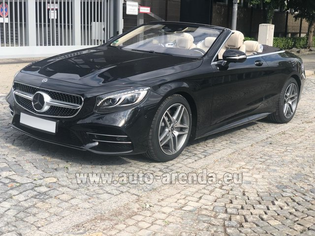 Hire and delivery to Starnberg the car Mercedes-Benz S-Class S 560 Cabriolet 4Matic AMG equipment