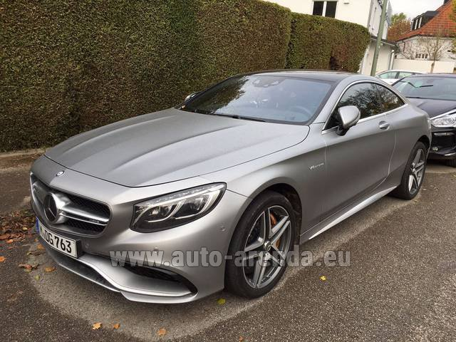 Hire and delivery to Starnberg the car Mercedes-Benz S-Class S63 AMG Coupe
