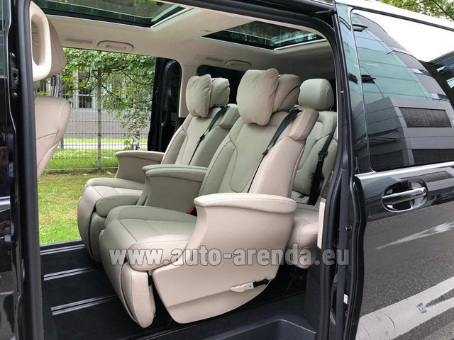 Прокат и доставка в аэропорт Мюнхена авто Мерседес-Бенц V300d 4MATIC EXCLUSIVE Edition Long LUXURY SEATS AMG Equipment