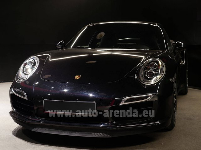 Hire and delivery to Rottach-Egern the car Porsche 911 991 Turbo S Ceramic LED Sport Chrono Package