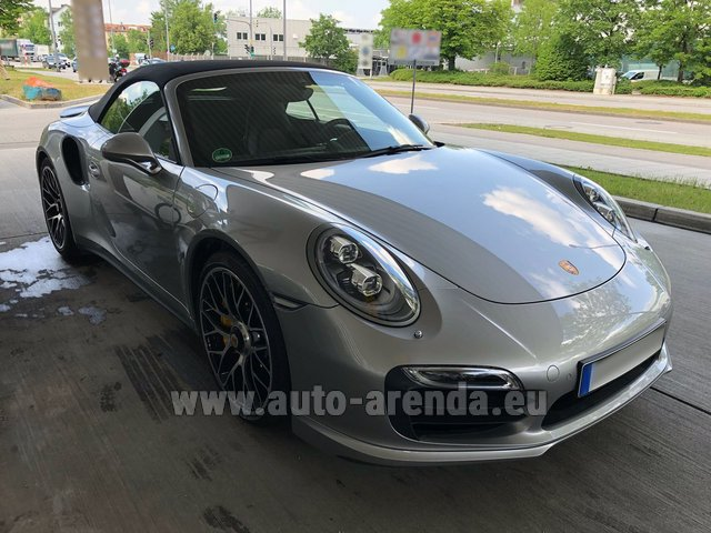 Hire and delivery to Rottach-Egern the car Porsche 911 991 Turbo S