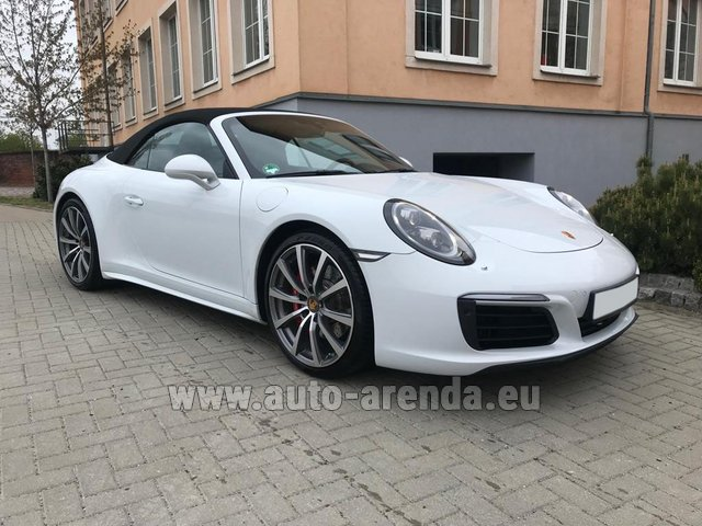 Hire and delivery to Rottach-Egern the car Porsche 911 Carrera 4S Cabrio