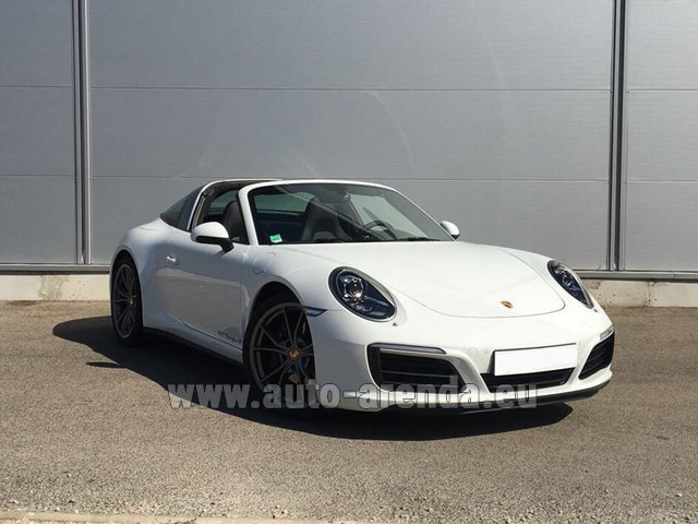 Hire and delivery to Rottach-Egern the car Porsche 911 Targa 4S White