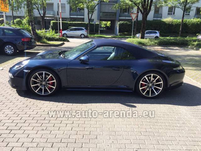 Hire and delivery to Rottach-Egern the car Porsche 911 Carrera 4S Cabriolet