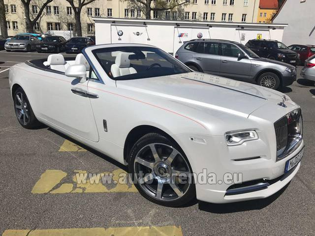 Hire and delivery to Starnberg the car Rolls-Royce Dawn (White)